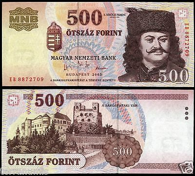 Hungary 500 Forint 2003  paper banknote P#188c Magyar Ungarn UNC