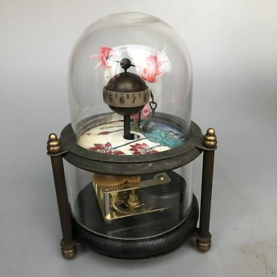 Chinese Old Copper Handwork Three Small Fish Clock