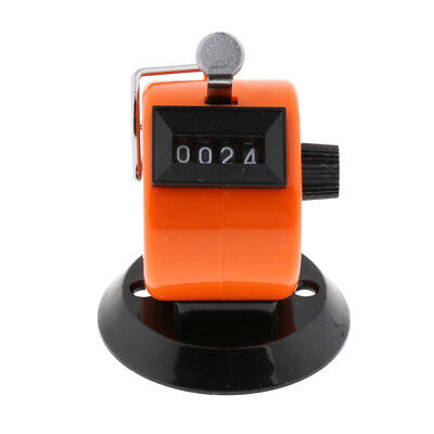 Hand Tally Counter 4 Digit Mechanical Palm Number Clicker, Convenient Orange