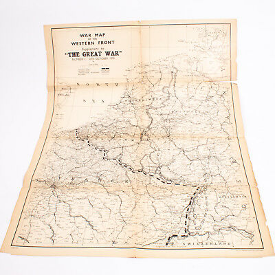 War Map Of The Western Front Supplement To The Great War No 1 27th October 1939