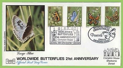 G.B. 1981 Butterflies set on Official Havering First Day Cover, Sherborne (dual