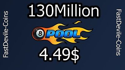 8 Ball Pool Coins 130 Million + Bouns (Transfer or New acc)