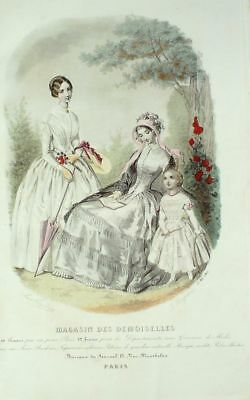 French Magasin Demoiselles SEWING PATTERN May 1847 Robe d'enfant