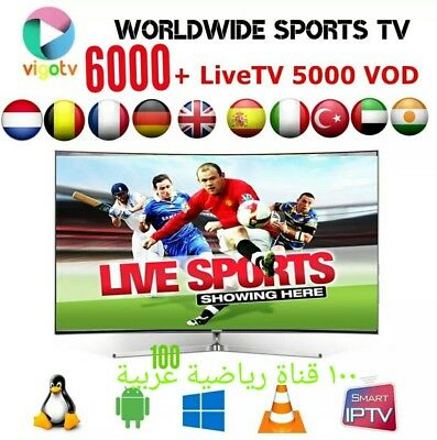 PREMIUM🔥IPTV⭐ SMART TV M3U Android 6000 Sender& 5000VODs 99% Flüssig Fire  TV✅