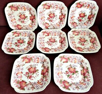 VINTAGE COLLECTIBLE Copeland Spode's RedAster Luncheon Plates