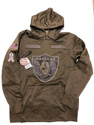 sports shoes 84551 fc1be NIKE AUTHENTIC OAKLAND RAIDERS 'SALUTE TO SERVICE' HOODIE Men Medium NWT