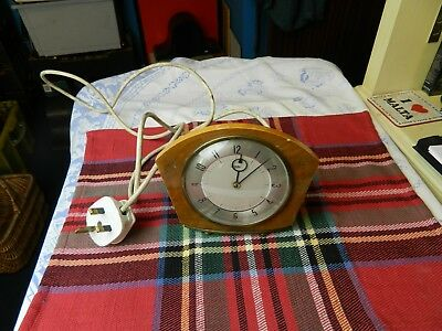 vintage Metamec electric art deco mantle clock