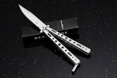 Coltello Butterfly Benchmade The Grey Moon Da Collezione Hunt Survival Balisong