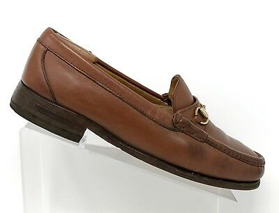 275c7f0929b Alden Mens Size 9.5D H465 Cape Cod Collection Brown Leather Horse Bit  Loafers
