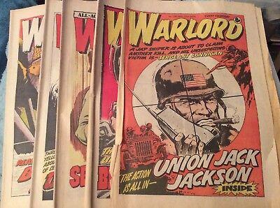 5 Vintage 'Warlord & Bullet Comics' Issues # 239, 240, 241, 242, 243, (all 1979)