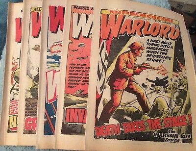 5 Vintage 'Warlord Comics' Issue # 167, 168, 169, 170, 171, (all 1977)