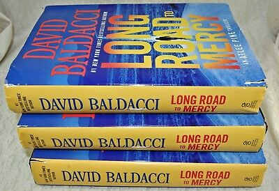 NEW w/DAMAGED DJ Long Road to Mercy by David Baldacci (2018, Hardcover)