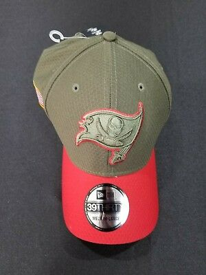 new products 15b55 71dd1 New Era Tampa Bay Buccaneers Olive 2017 Salute To Service 39THIRTY Flex Hat  M L