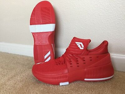 sale retailer 6a1e9 c2f1e Adidas Size 12.5 Mens RedWhite Dame 3 Basketball Shoe BY3192 New Oakland