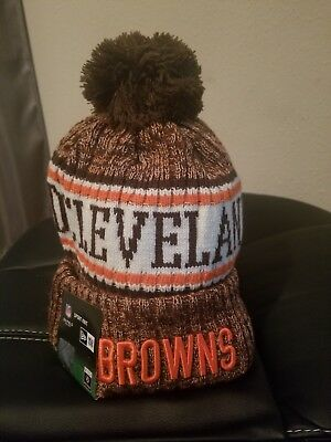 651abb2eaf9 Cleveland Browns Winter Beanie Sideline Hat Cap On Field NWT USPS SHIPPING