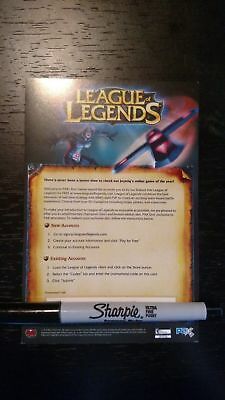 EXTREMELY RARE League of Legends Pax Sivir Skin Code Card