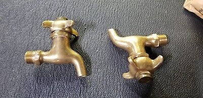 Vintage brass spigot faucet pair - twist and hold - NOS Royal Cleveland