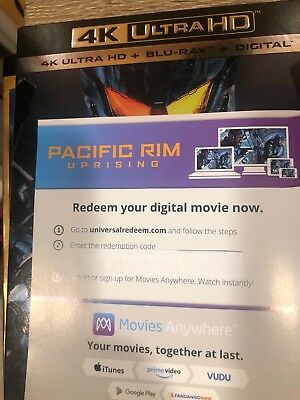 Pacific Rim: Uprising (2018) Digital code from 4K UHD BluRay releases