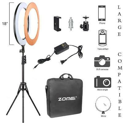 """18"""" SMD LED Ring Light Dimmable 5500K Continuous Lighting makeup Photo Video Kit"""