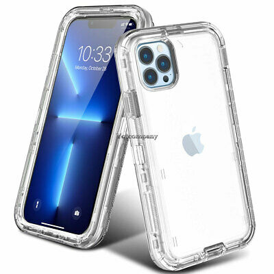 iPhone 11 Pro Max XS XR 8 7 6s 6 Plus Full Body Shockproof Hard Clear Case Cover