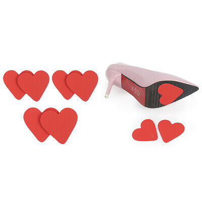 12pcs Self-Adhesive Anti-Slip Stick Red Heart Shoe Grip Pads Sole Protectors