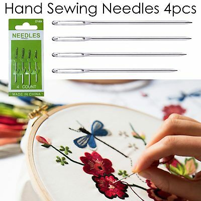 Large Thick Needle Big Small Eye Embroidery Hand Sewing Knit Yarn