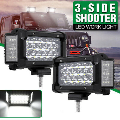 5 Inch 180W 3400LM Dual Side Shooter LED Work Light Combo Offroad Driving Lamp