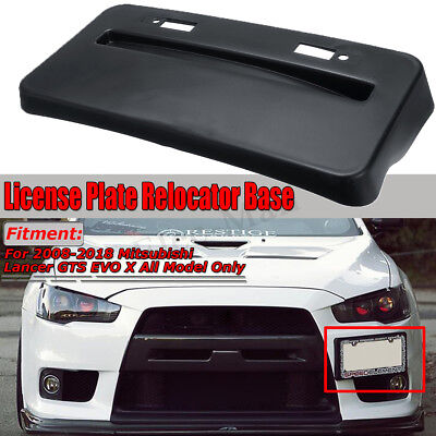 Front Bumper Side Mount License Base For 2008-2018 Mitsubishi Lancer GTS EVO X