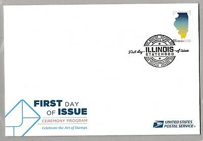 US 5274 Statehood Illinois Ceremony Program FDC 2018