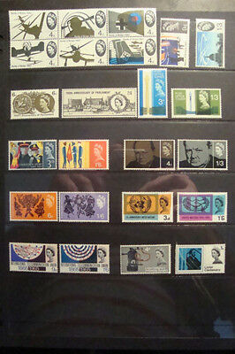 GB 1965 Commemorative Stamps, Year Set~Unmounted Mint~UK Seller