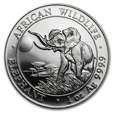 Somalia 100 Shillings African Wildlife Elephant 2016 1 oz .9999 Silver Coin