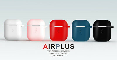 QI Wireless Charging Silicone Protective Case for Apple Airpods