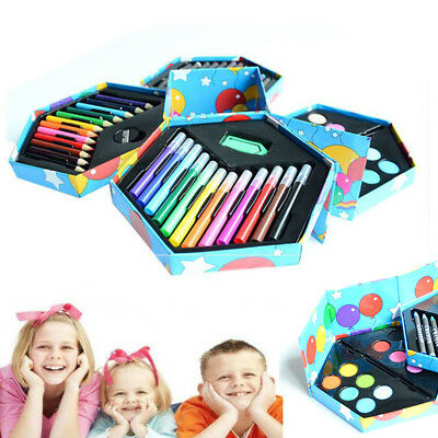 52pc Art Set Childrens Kids Colouring Drawing Painting Arts & Crafts Case