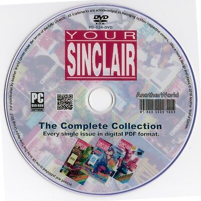 YOUR SINCLAIR Magazine Collection on Disk ALL 93 ISSUES! Spectrum QL ZX81 Games