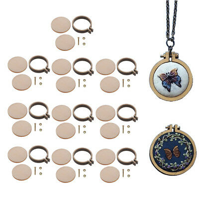 10pcs Mini Embroidery Hoop Wooden Cross Stitch Frame DIY Stitching / Sewing