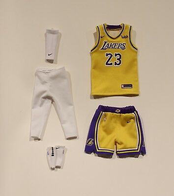 best loved 8a616 e6e6a CUSTOM 1/6 LEBRON james Lakers jersey 23 los angeles NBA fit enterbay