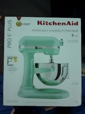 New Kitchenaid Professional 5 Qt Mixer Ice Blue Pro 5 Plus Kv25g0xic