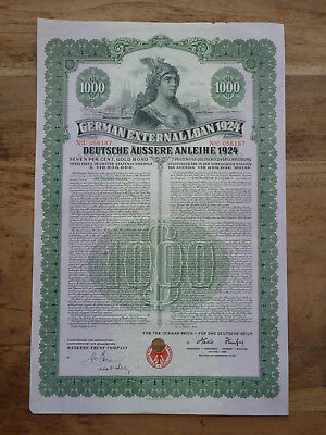 German External Loan 1924, Deutsche Äussere Anleihe 1924