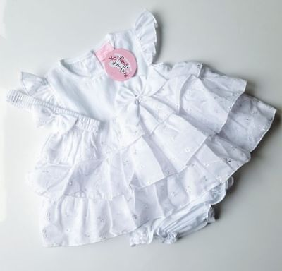 Baby Girls White Broderie Anglaise Dress