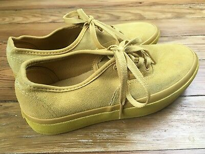 59ee1b4f907b Womens Vans Size 6.5 Eur 36.5 Ochre Suede Outsole Yellow Platform Authentic
