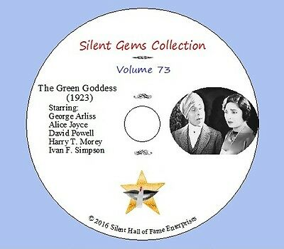 "DVD ""The Green Goddess"" (1923) George Arliss, Alice Joyce, Clásica Silent Drama"