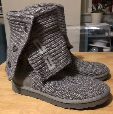 Ugg Classic Cardy Boots Ladies Size Uk75 Eur40 Genuine Good