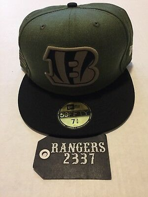 low priced d7a94 2ef84 New Era NFL 18 Cincinnati Bengals 59FIFTY STS Fitted Hat Cap Size 7 3 8