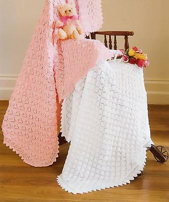 3 Baby Knitting Patterns LACY Shawls  4 ply