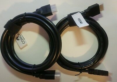 2 (Two) Premium Hdmi Cable 6 Ft Bluray 3D Dvd Ps4 Hdtv Xbox Lcd Hd 1080P Usa 4K