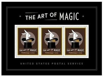 =WOW= #5306, ART OF MAGIC FOREVER SOUVENIR SHEET, DISAPPEARING RABBIT, Free S&H