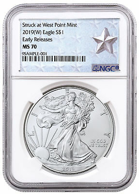 2019-(W) American Silver Eagle West Point NGC MS70 ER Silver Star SKU56669