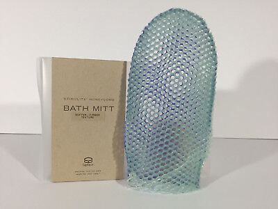 """One New Boxed """"Supracor"""" Stimulite Dual Sided Bath MItt Lavender/Green Authentic"""