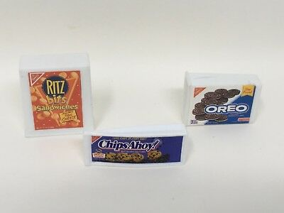 Lot of 3 Tyco Kitchen Littles Barbie Style Doll Food Cookies