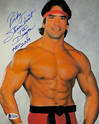 """Ricky Steamboat WWE Wrestling """"The Dragon HOF 2009"""" Signed 8x10 Photo BAS G22340"""